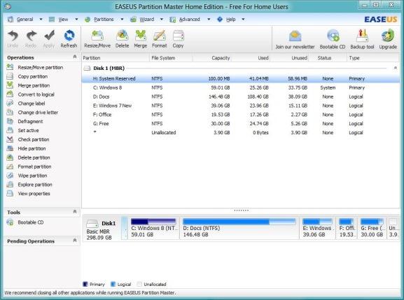 Apakah Anda menginstal sistem operasi Windows  Download Gratis EaseUS Partition Master Home Windows 8