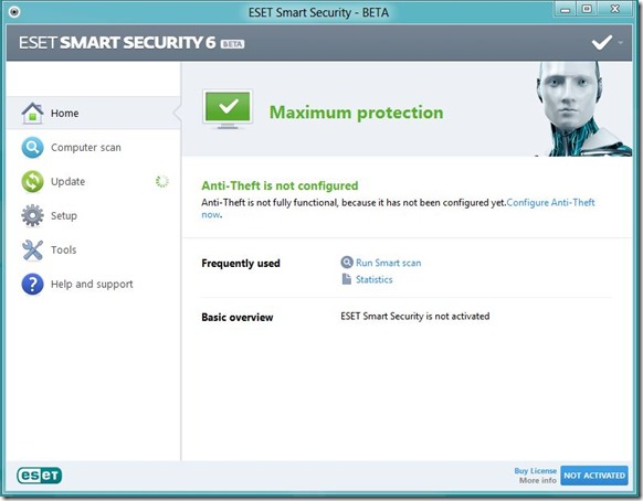 dengan fitur gres dan kini sanggup di download gratis untuk semua pengguna Download Gratis ESET Smart Security  NOD32 Antivirus 6 Beta