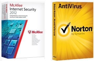 Norton AntiVirus 2012 And McAfee Internet Security 2012