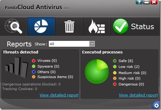Panda Cloud Antivirus Free for Windows 8