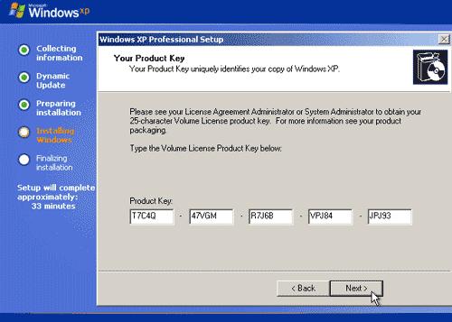 Boot Windows XP