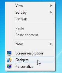 Gadget Windows 7