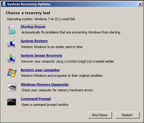Memperbaiki Start-Up Windows 7