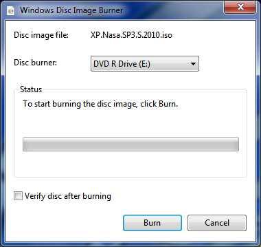 Burning ISO