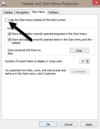 Perubahan Start Menu Windows 10 Windows 8