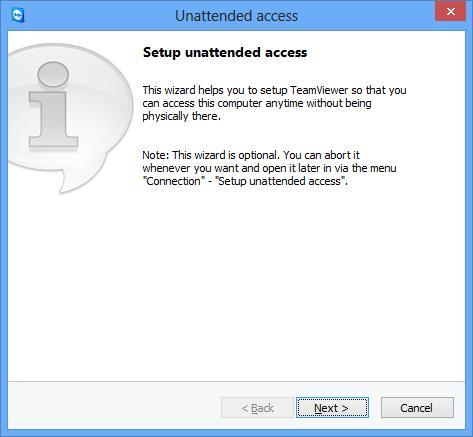 TeamViewer-10 Mengatur tanpa pengawasan