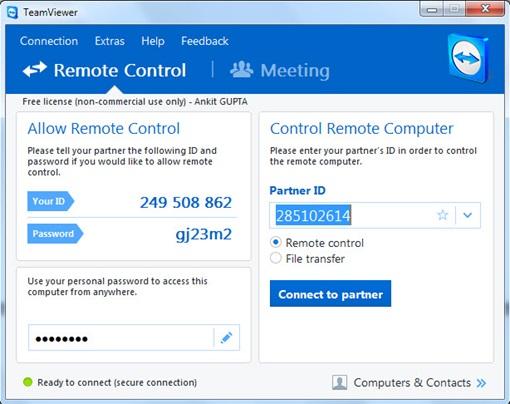 TeamViewer-10 Remote Control