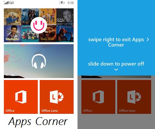 Keluar Aplikasi Corner