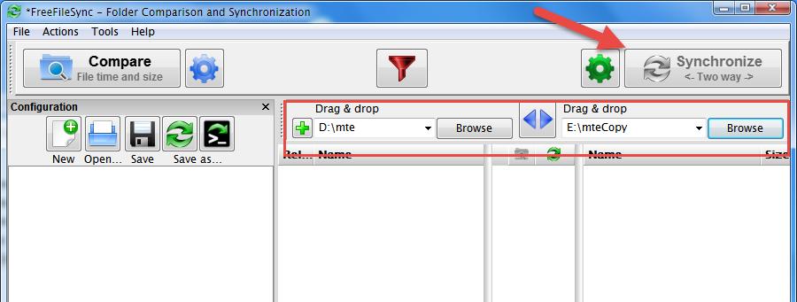 Memasukkan Folder ke FreeFileSync