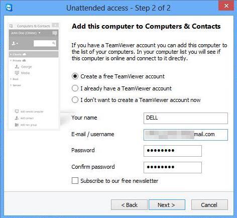 Membuat akun baru TeamViewer