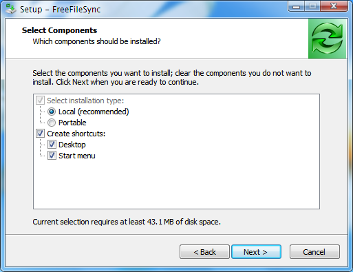 Install FreeFileSync