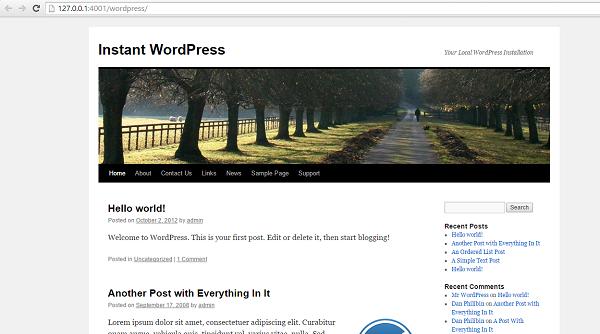 Tampilan WordPress