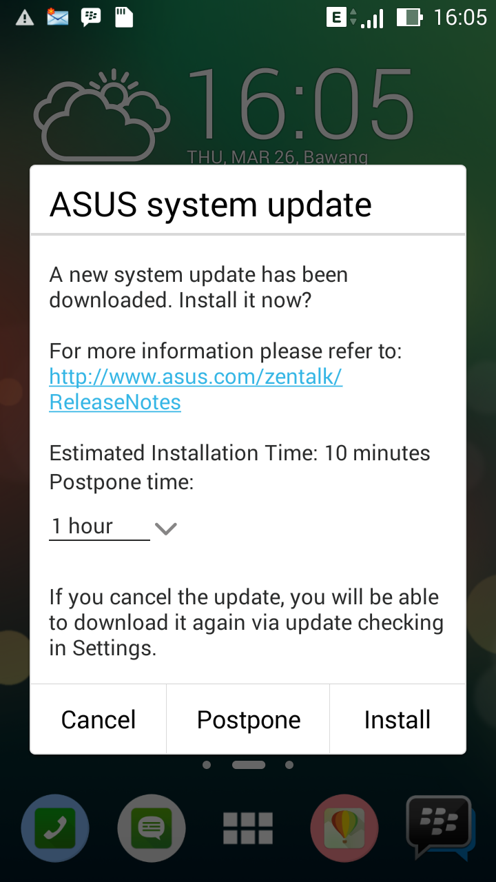 Selesai Download Upgrade Sistem Asus Zenfone 4, 5, 6
