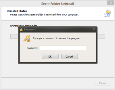 Uninstall Software SecretFolder