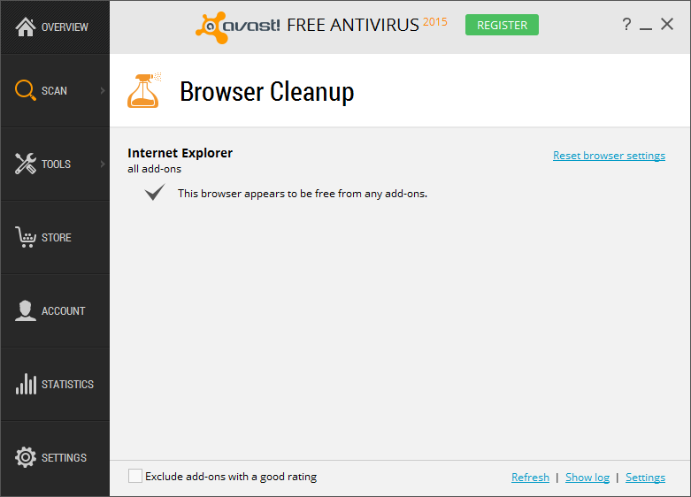 Browser Cleanup Avast Antivirus