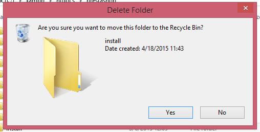 Hapus Folder Install