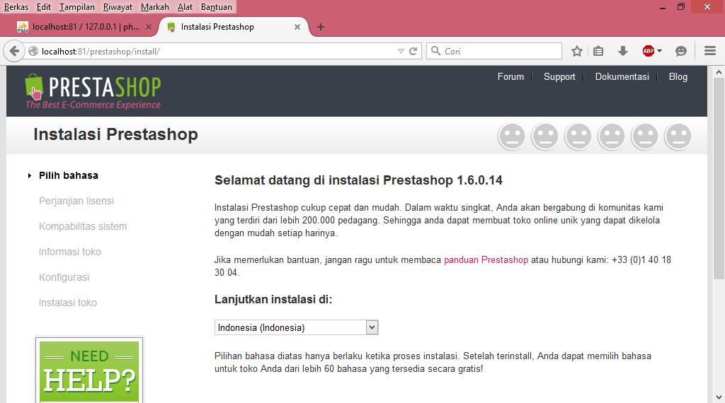 Memulai Install PrestaShop