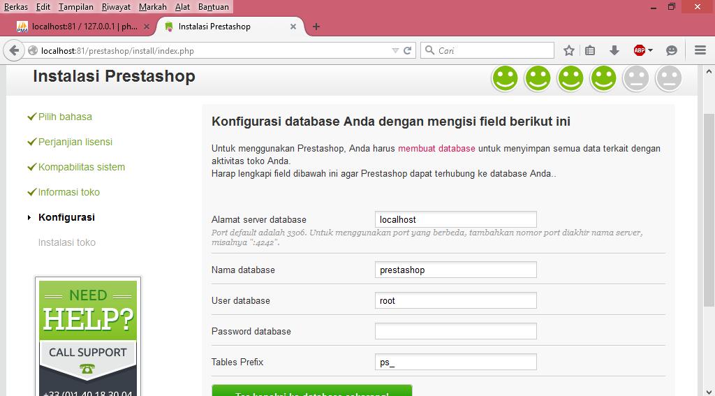 Pengisian Informasi Database