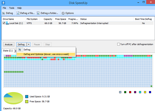 Tampilan Freeware Disk SpeedUp