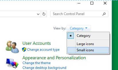 Icon Control Panel
