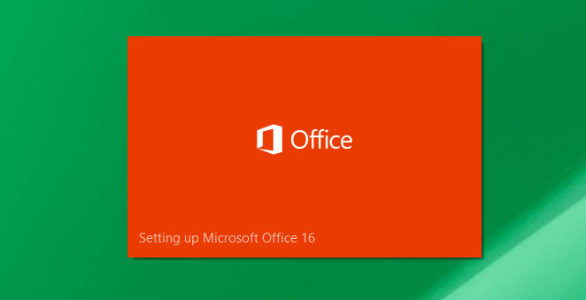 Install Office 2016