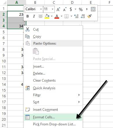 Langkah Awal Menyembunyikan Sel Pada Excel