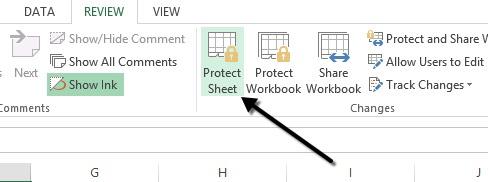Melindungi Lembar Kerja Pada Excel