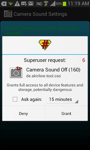 Pengaturan Suara Kamera Android