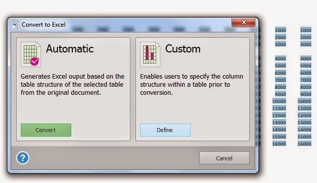 Pilihan Jenis Konversi PDF ke Excel Dalam Software Able2Extract