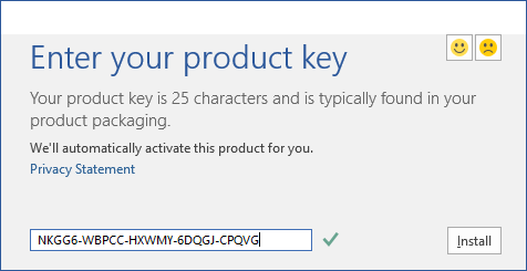 Product Key Office 2016