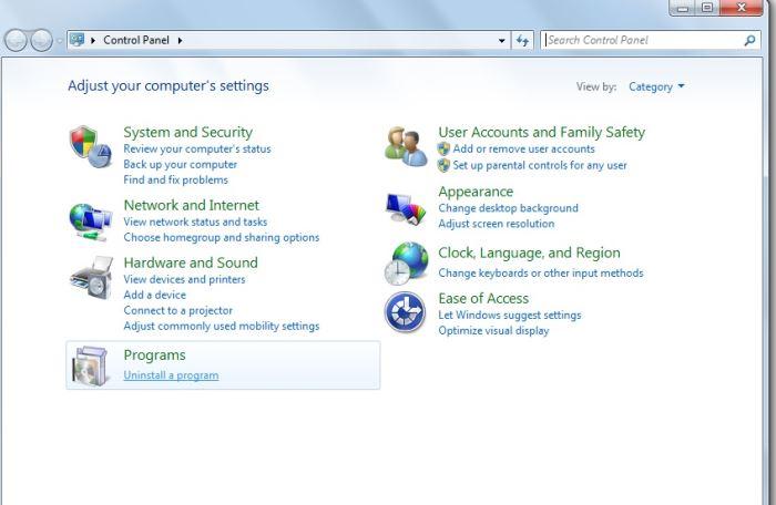 Program & Features Pada Control Panel