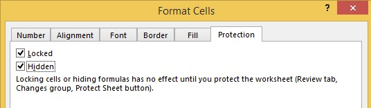 Tab Protection Pada Format Cells Excel