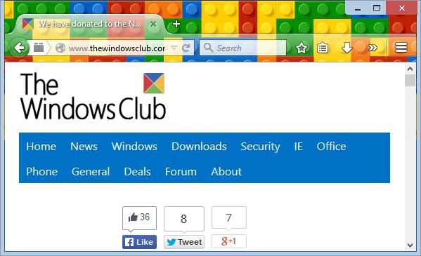 Tema Lego Untuk Mozilla Firefox