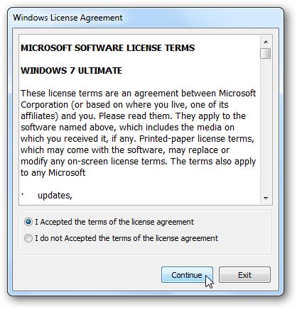 Windows 7 EULA