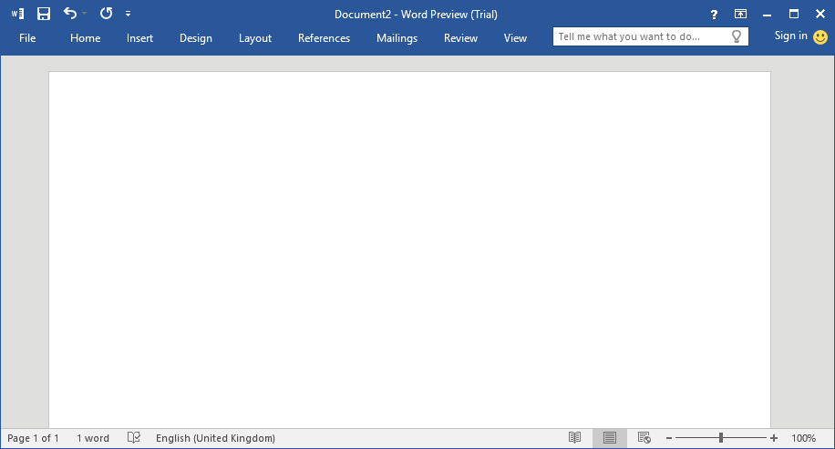 Word Office 2016