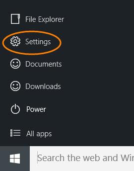 Membuka Pengaturan (Setting) pada Windows 10