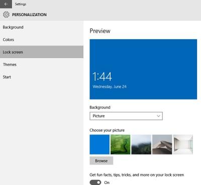 Pengaturan Bagian Personalisasi (Personalization) Windows 10