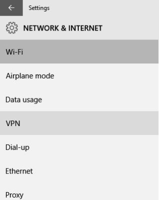 Pengaturan Jaringan dan Internet (Network and Internet) Windows 10