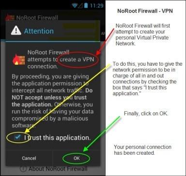 Proses Instalasi Aplikasi NoRoot Firewall