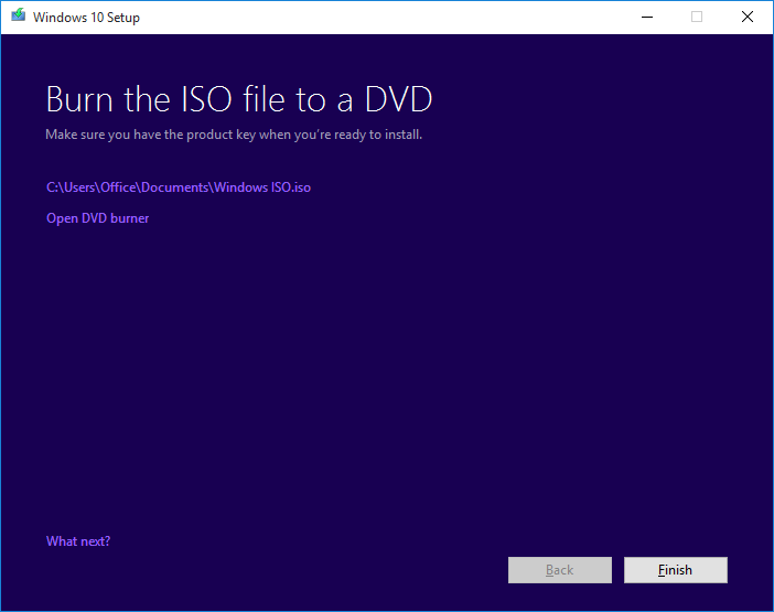 Burn ISO Windows 10