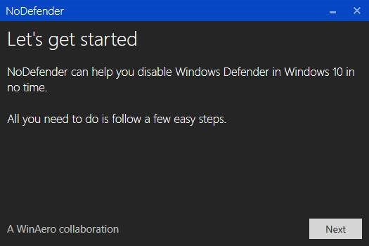 Mematikan Windows Defender dengan NoDefender