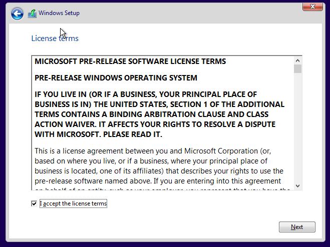 Persetujuan Penggunaan Windows 10
