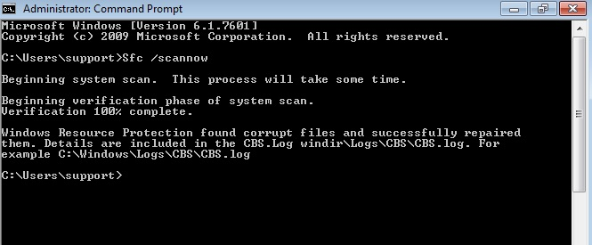 System File Checker Sukses