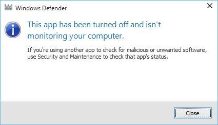Windows Defender Berhasil Dimatikan