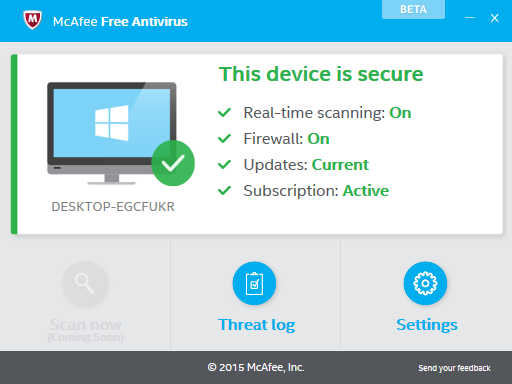 Antivirus McAfee Free