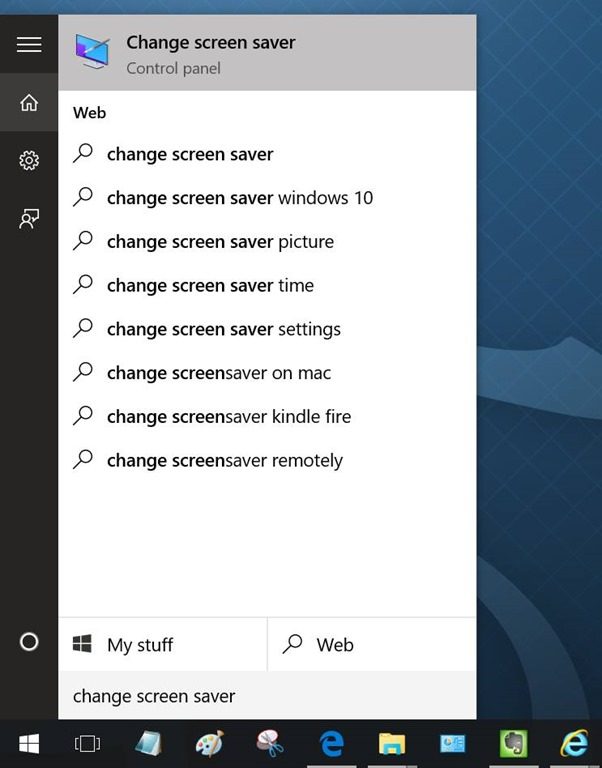 Change Screen Saver Windows 10