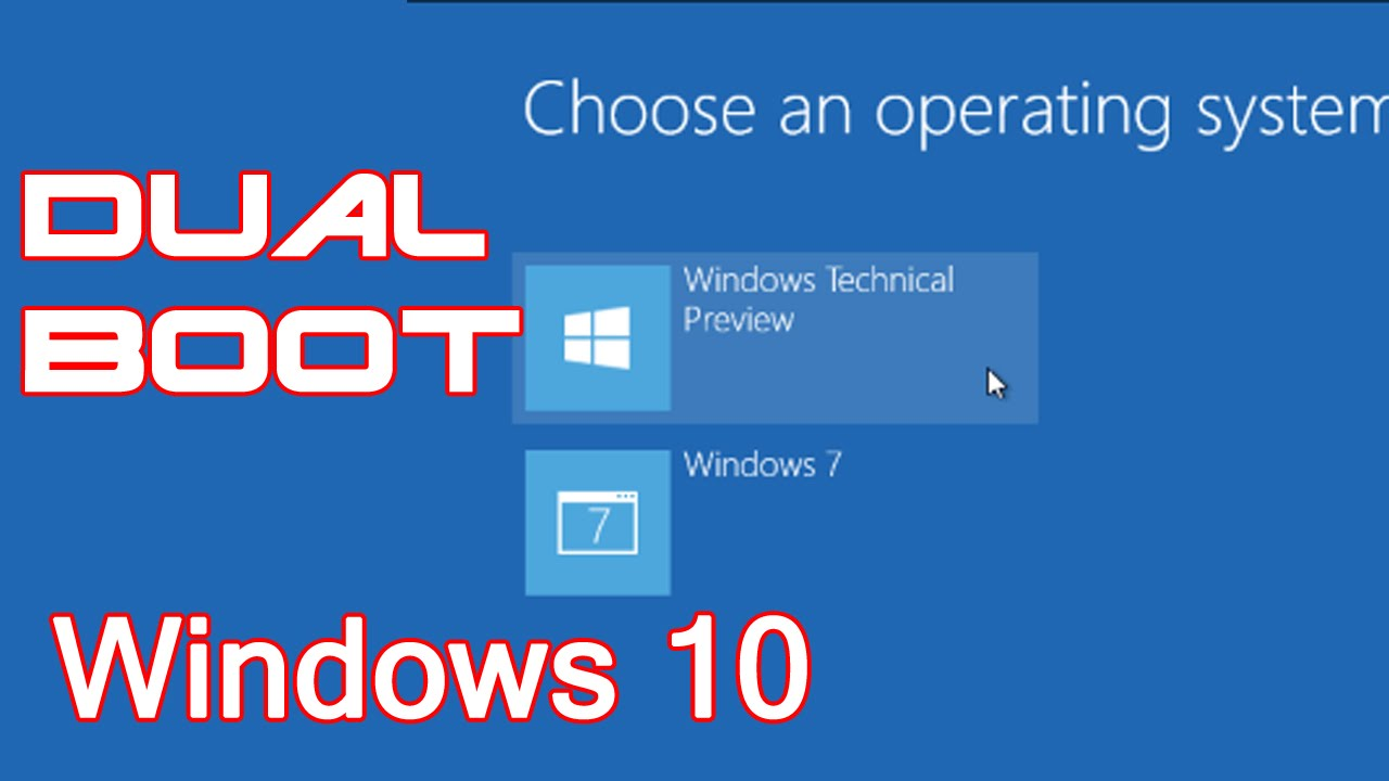Dual Boot Windows 10