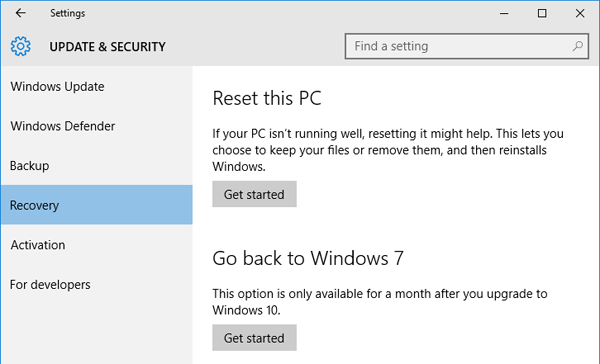 Mengembalikan Windows 7    8 1 Setelah Upgrade Ke Windows 10