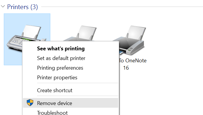 Menghapus Printer Windows 10