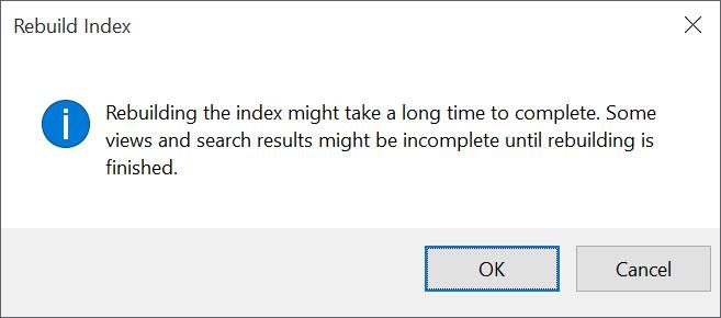 Peringatan Rebuild Index Pencarian